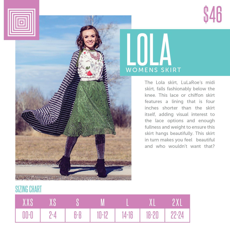 f8e45e285 LuLaRoe Lola Sizing Chart 2018 | LuLaRoe Sizing Charts | Lularoe ...