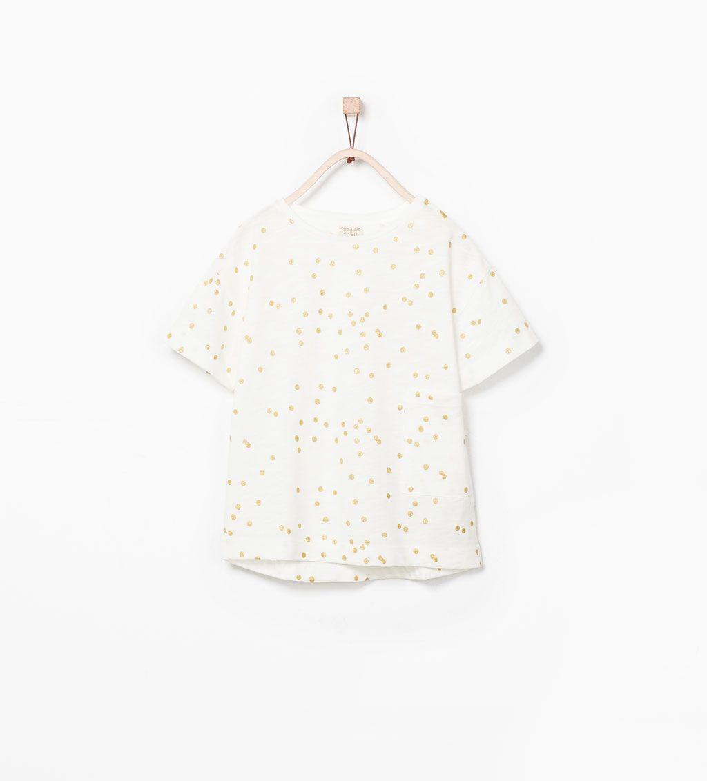 Imagem 1 de T-SHIRT ESTAMPADA COM BOLAS ÀS CORES da Zara