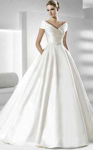 Vestiti Da Sposa In Raso.Grande Immagine 1 Abito Da Sposa Convenzionale Principessa In Raso