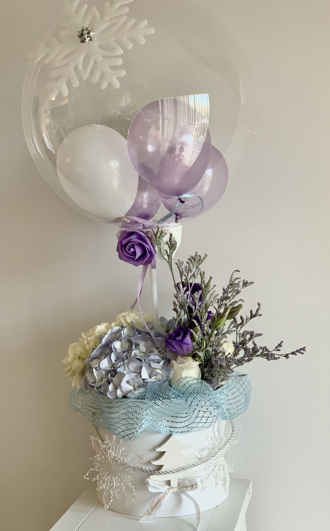 Balloon flower arrangement in 2020 flower arrangements