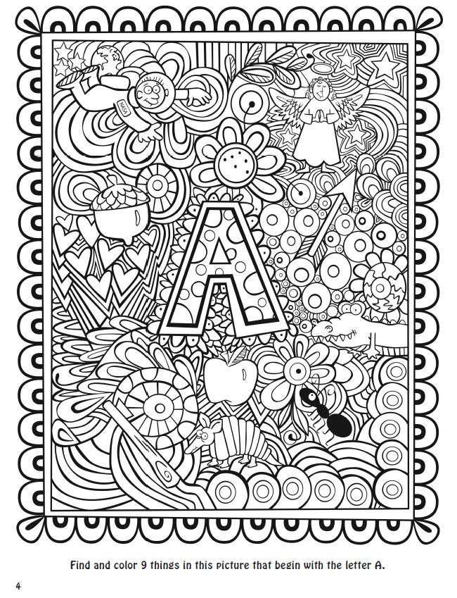 Seek, sketch and color alphabet 1   coloring sheets   Pinterest ...