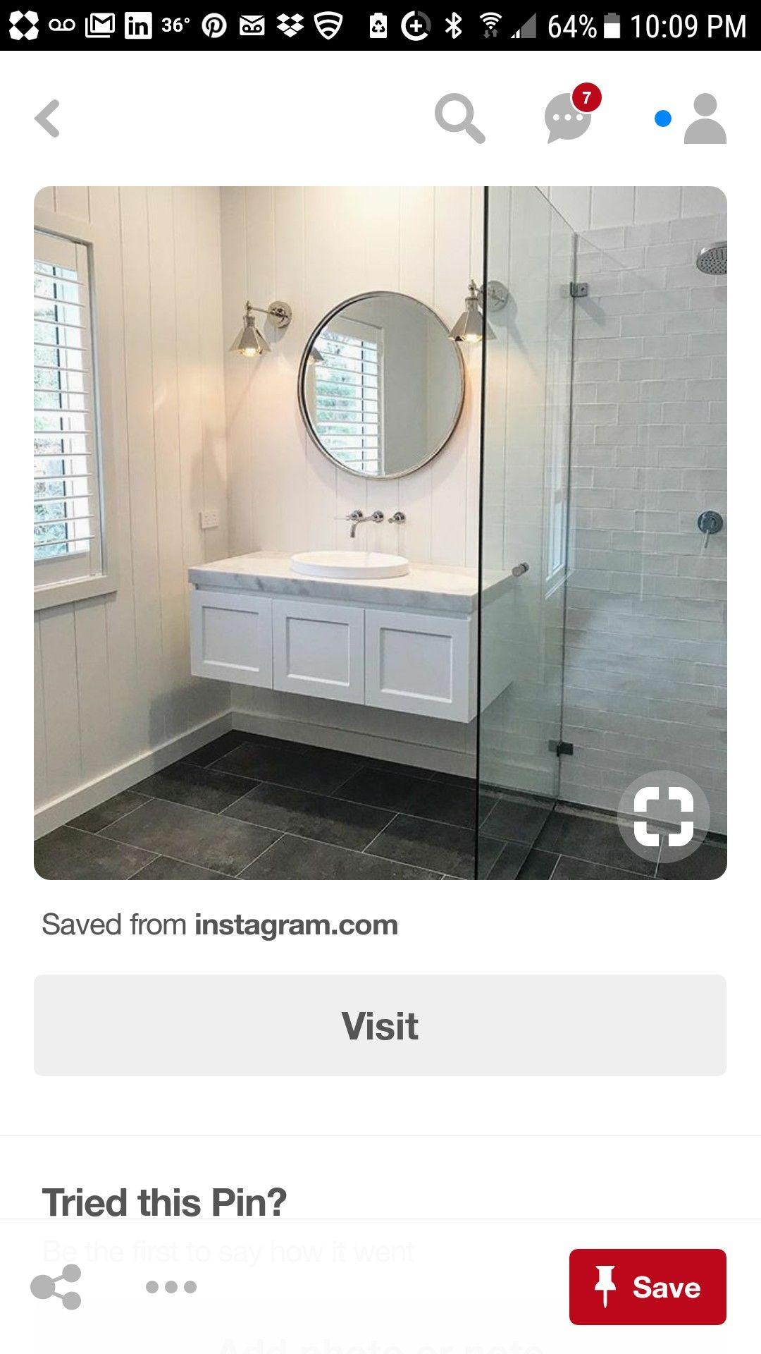 Note Vanity Round Mirror Bathroom Bathroom Mirror Bathroom [ jpg ]