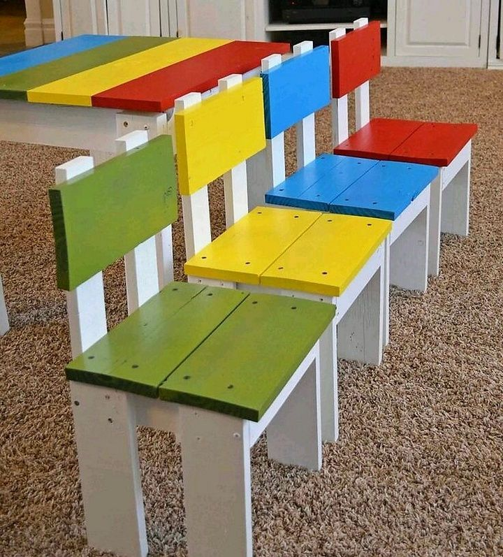Step By Step Pallet Chair Pallet Chair Ideas Simple Pallet Chair