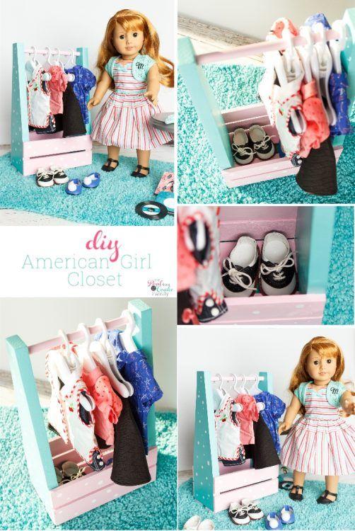 DIY American Girl Idea to Make an adorable Portable Closet