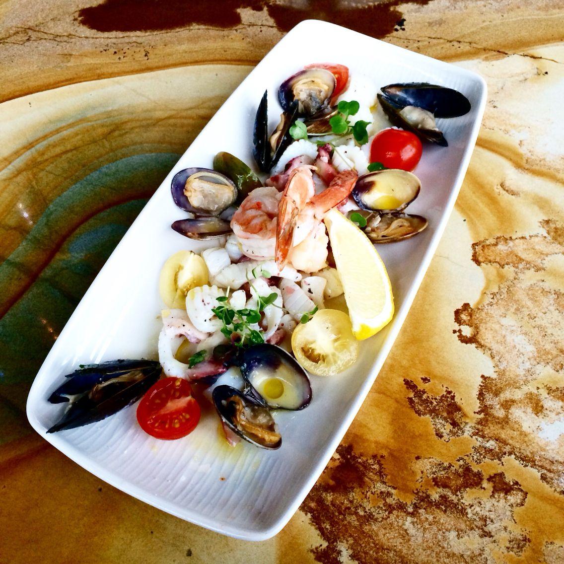 Seattle Map Redmond%0A Delicious seafood salad at Blu Sardinia in Redmond  WA