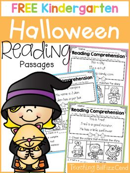 inside you will find 5 free halloween kindergarten reading comprehension passages these reading comprehension packets kindergarten worksheetskindergarten - Free Halloween Reading Comprehension Worksheets