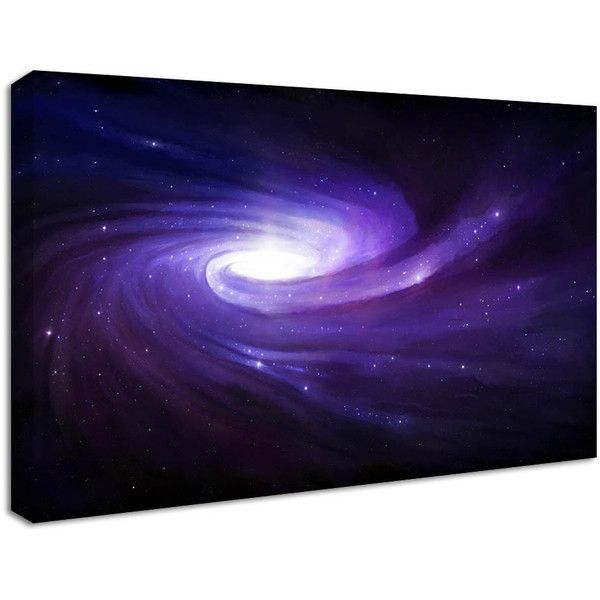 Nucasa Purple Galaxy Space Canvas Print Star Wall Art Purple Wall Art Space Wall Art