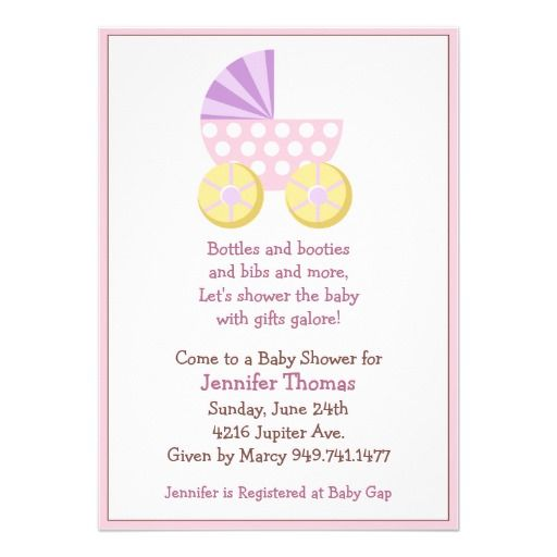 Cute Baby Shower Invitations For Girls was best invitations sample