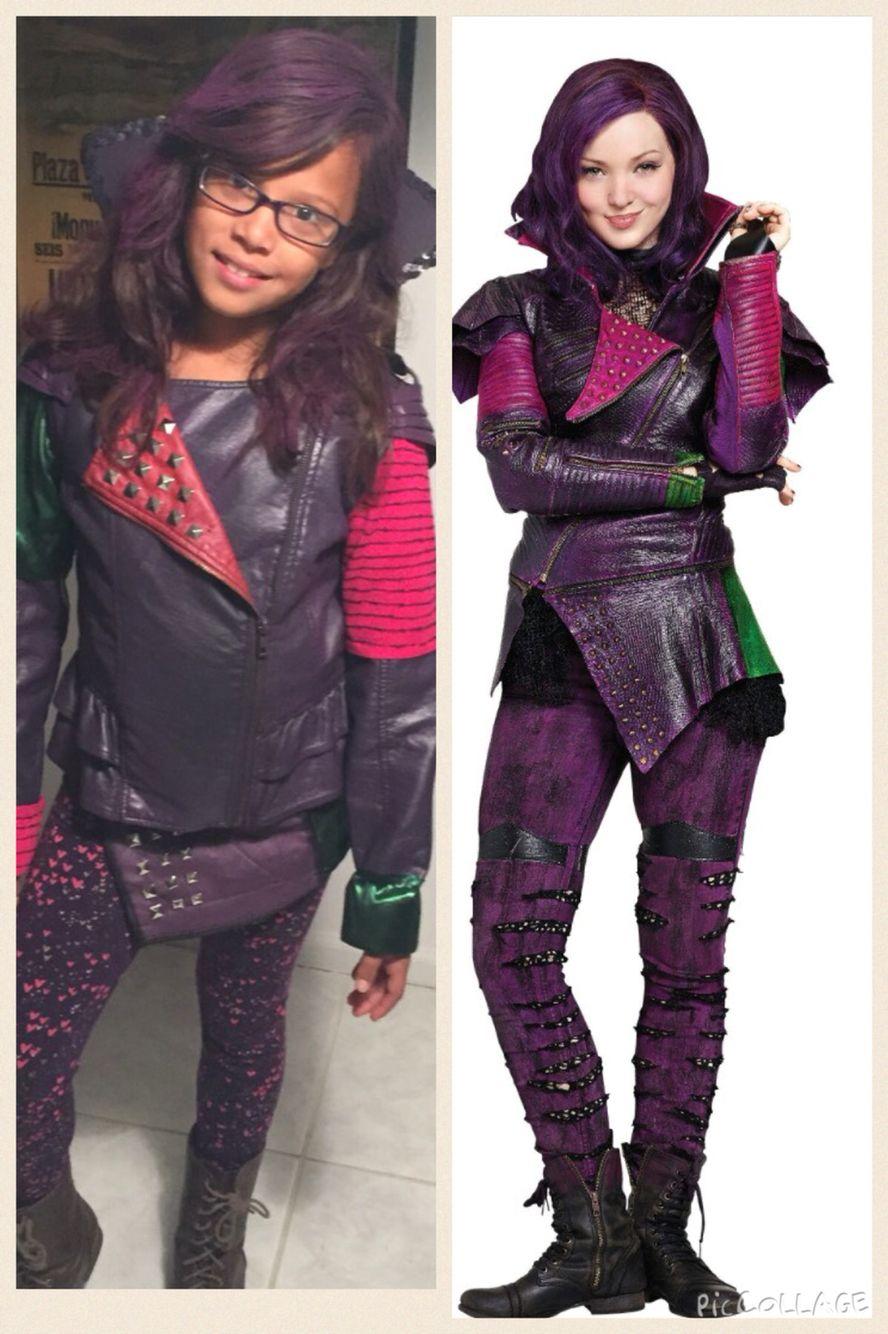Leather jacket diy - Diy Mal Costume Descendants Disney Mal Leather Jacket Spray Paint Studs Leftover Fabric