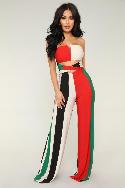 0e8953777389 Show off striped jumpsuit green multi fashion nova pinterest jpg 1000x1500  Striped jumpsuit nova