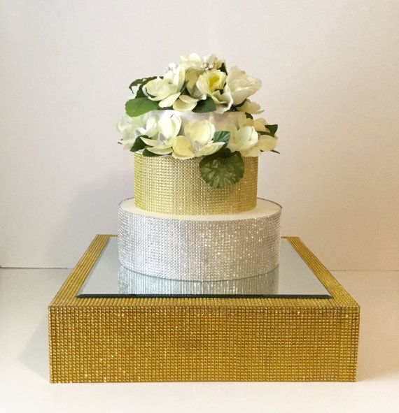 Gold Cake Stand Cake Riser 18 Rhinestone by PrettyPartyDetails ...