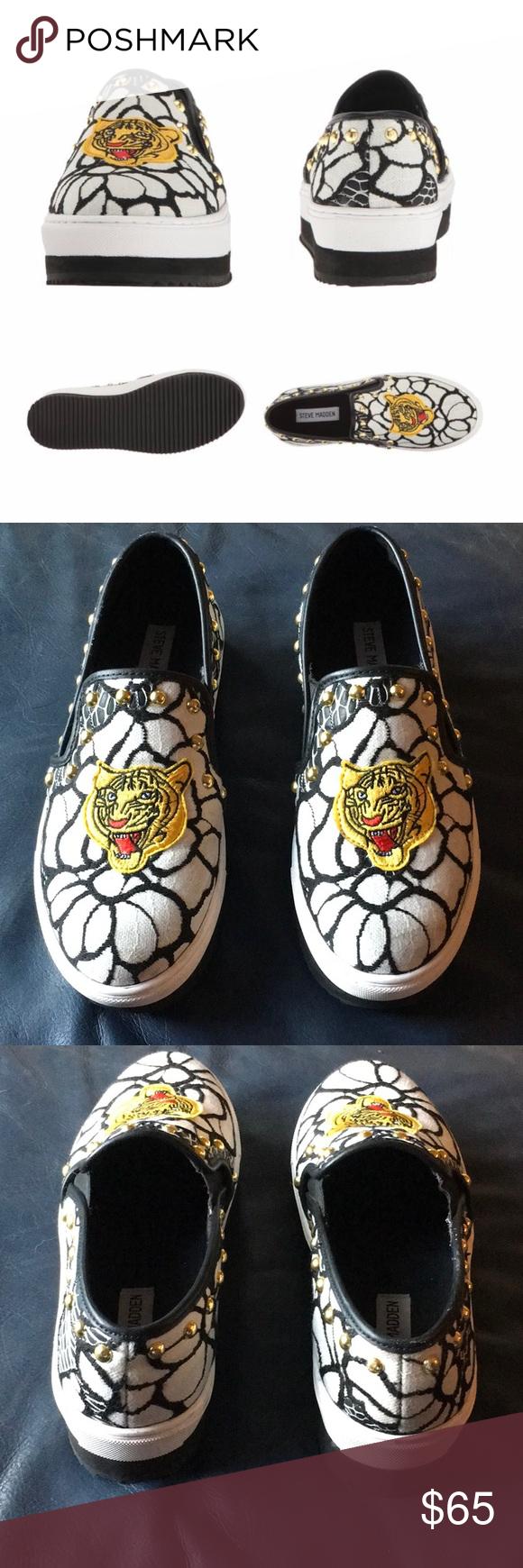 Steve Madden Slick-P Tiger Sneaker Slip