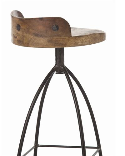 Henson Wood And Iron Swivel Barstool From Arteriors Home