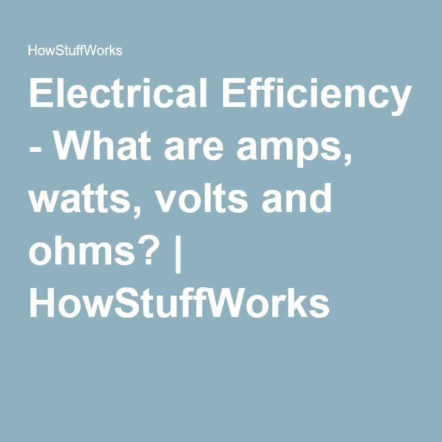 what are amps watts volts and ohms tiny houses amp. Black Bedroom Furniture Sets. Home Design Ideas