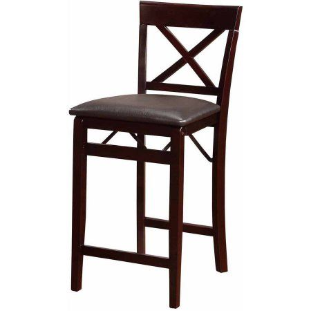 Miraculous Linon Triena X Back Folding Counter Stool Espresso 24 Inch Caraccident5 Cool Chair Designs And Ideas Caraccident5Info