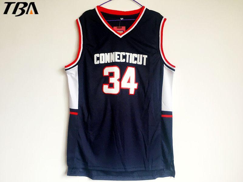 best website 0229e 5aa5b 2017 TBA New Hot College Jerseys,#34 Ray Allen Connecticut ...