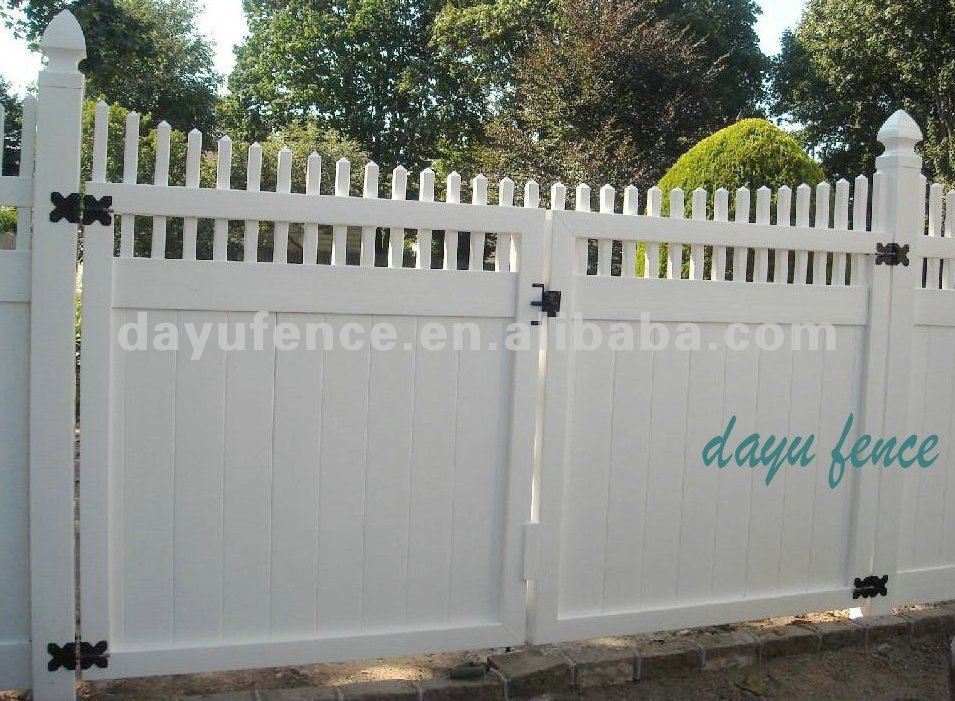 Vinyl Fence Gate Fences Outside Driveway Fence