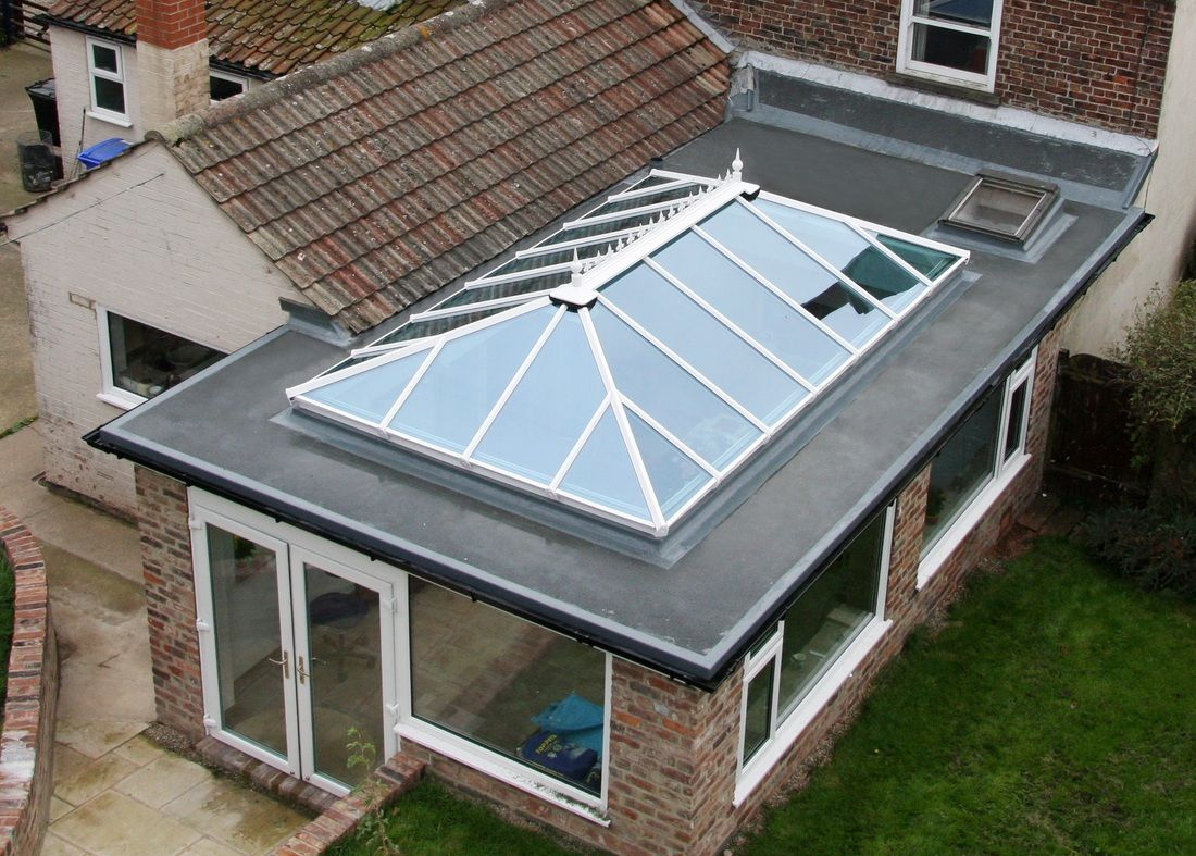 Pin By Johnmcc On For The Home Roof Lantern Flat Roof Extension Glass Roof Extension