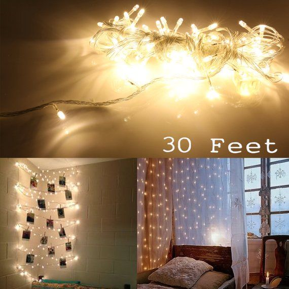 ft white color led light strip christmas tree house room decor party string fairy warm lamps also rh pinterest