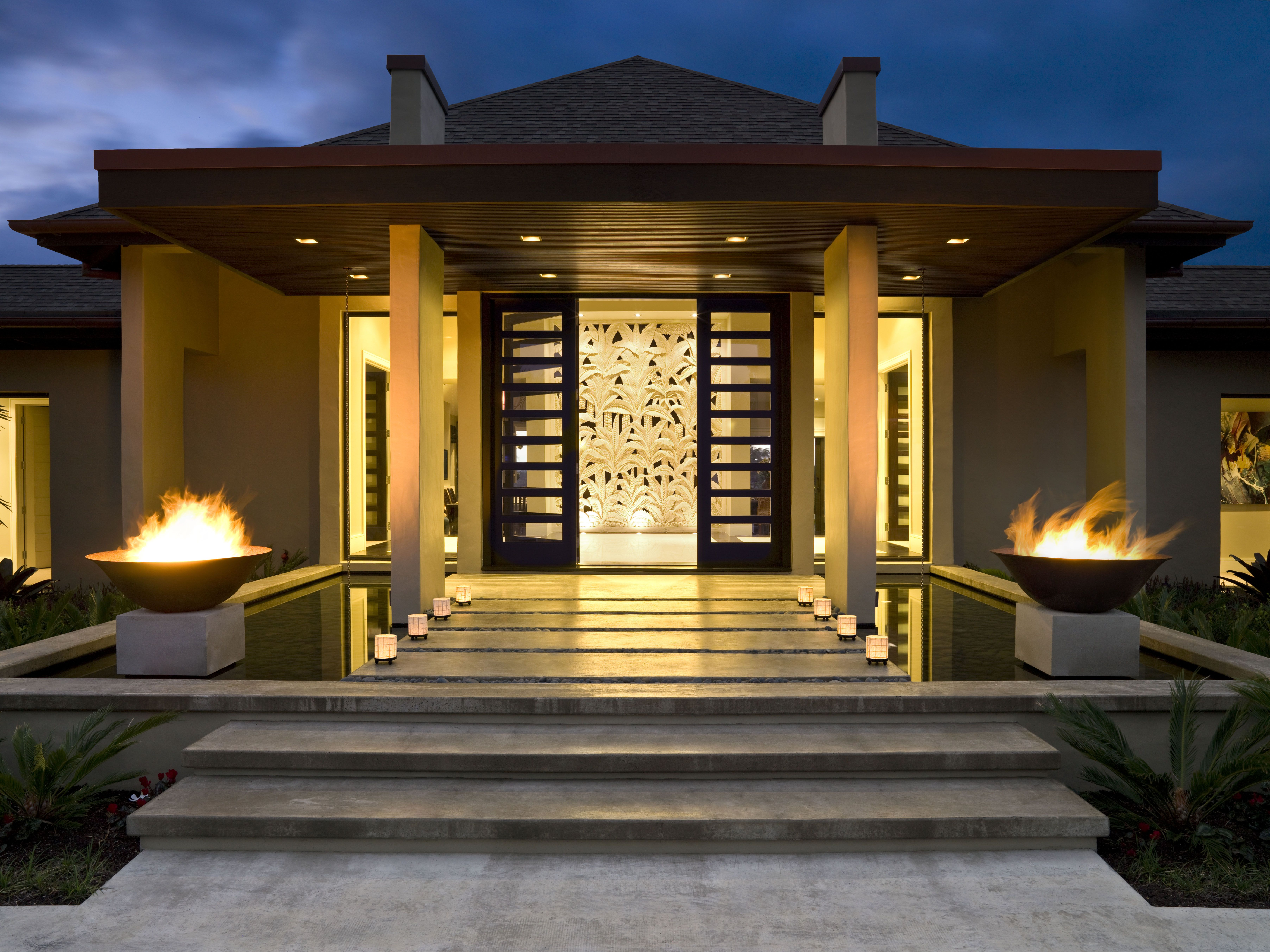 Balinese Home designed by Masonry Design Solutions