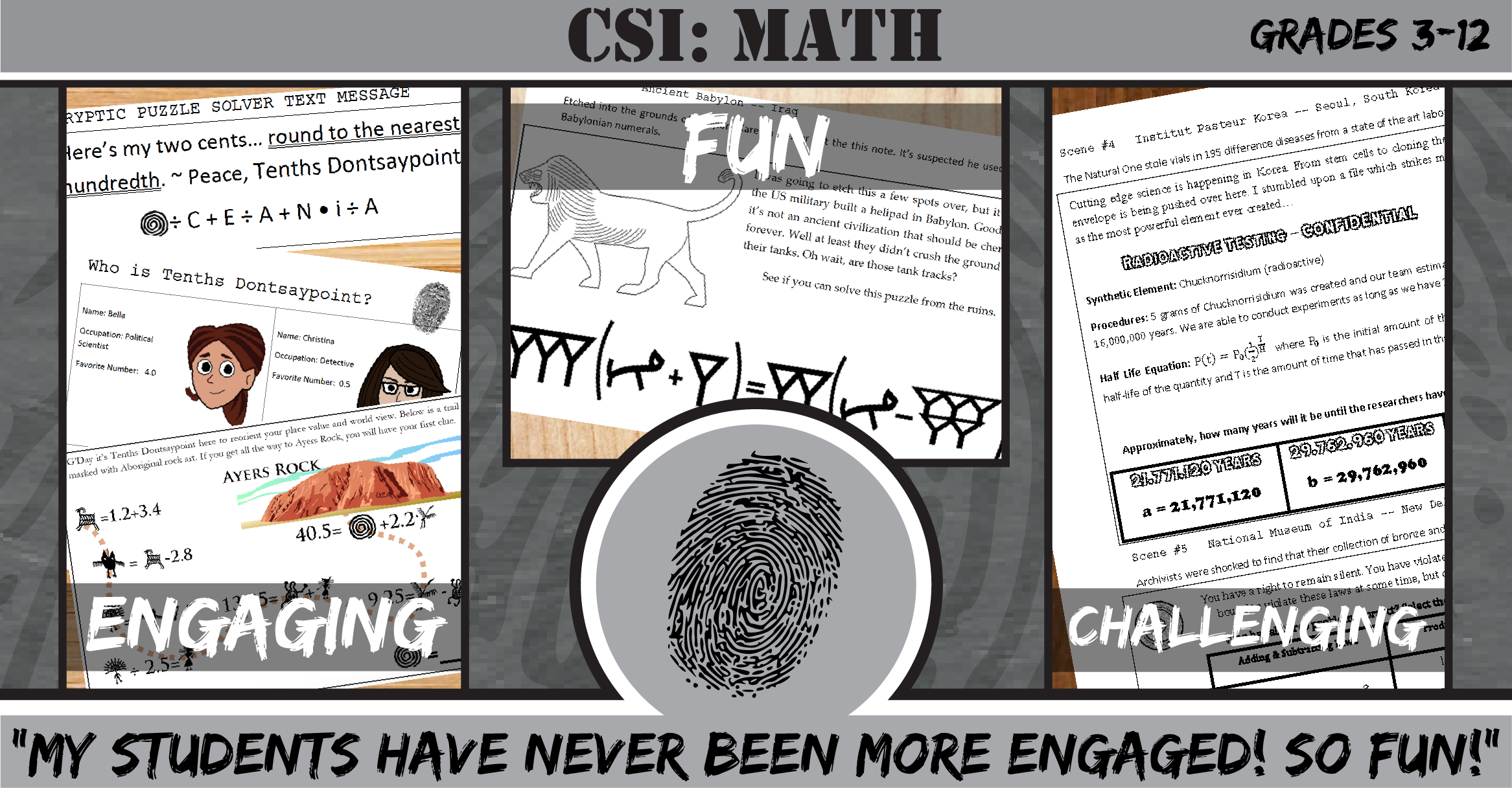 Csi Investigations From 21st Century Math Projects