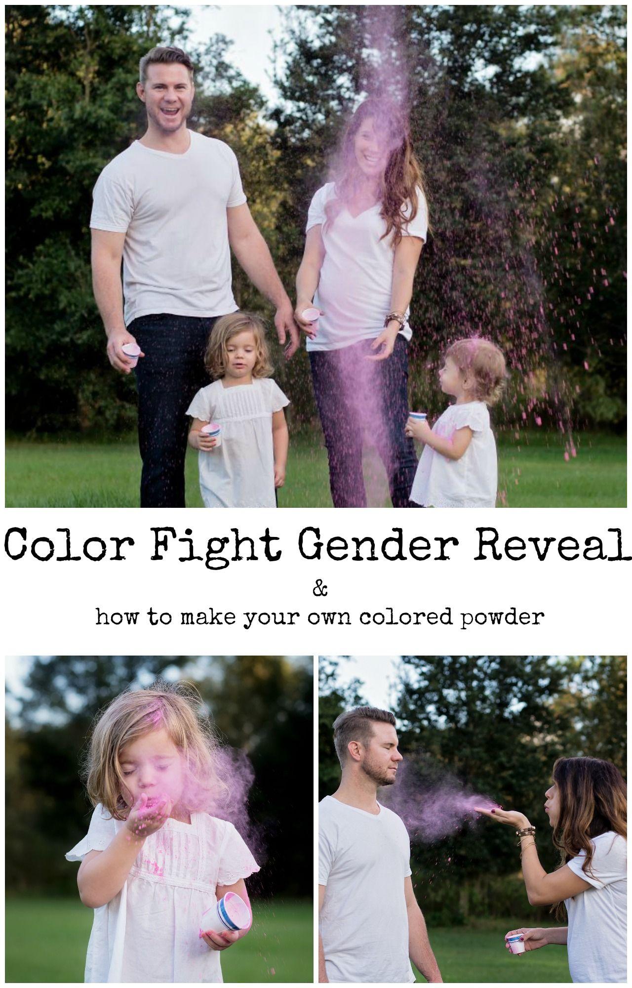 Color Powder Gender Reveal >> Gender Reveal Ideas Using Colored Powder Including Older Siblings