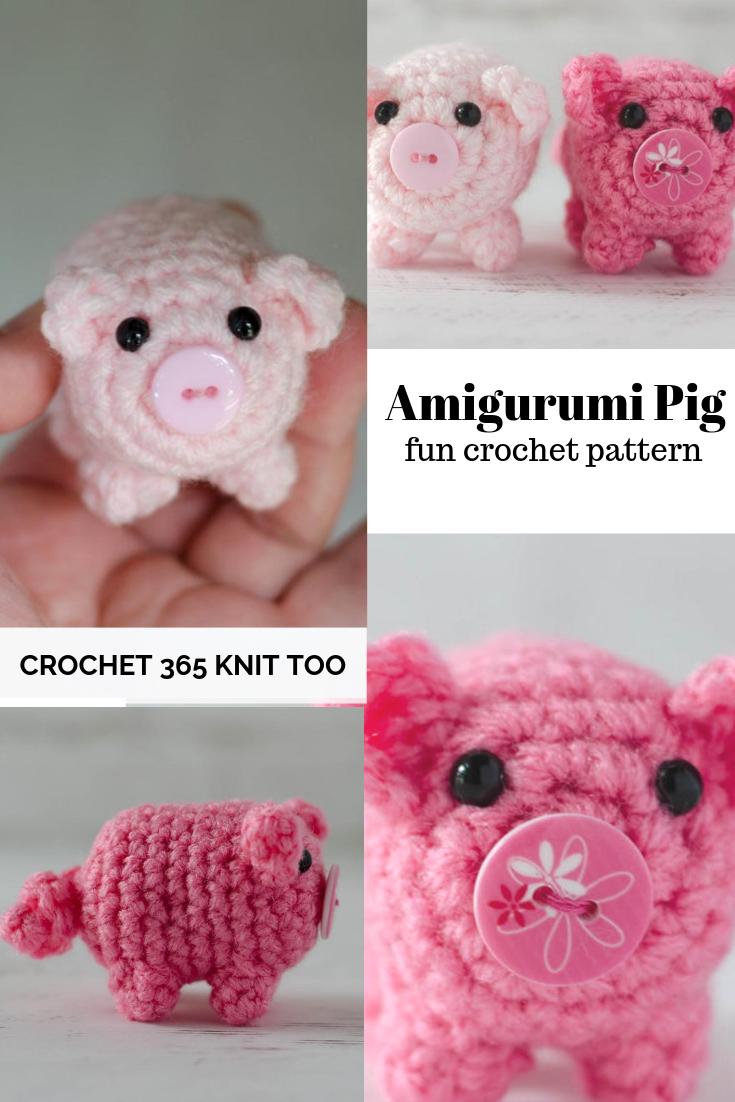 8 Crochet Amigurumi Pig Free Patterns | Crochet patterns amigurumi ... | 1102x735