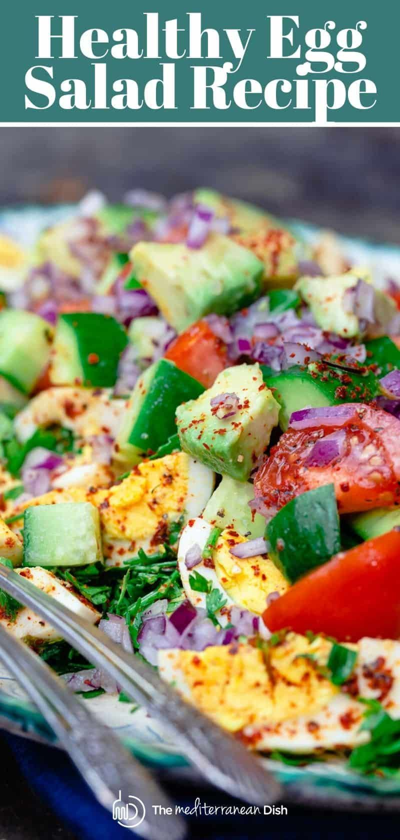 Looking For A Healthy Egg Salad That Is Not Your Average This Is It Prepared Mediterranean Style In 2020 Healthy Egg Salad Egg Salad Recipe Healthy Egg Salad Recipe