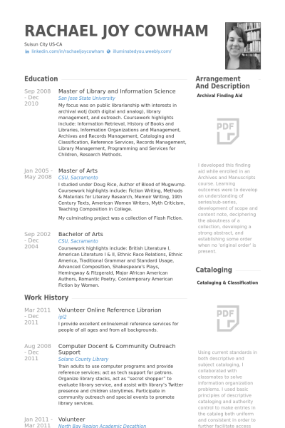 Resume For Librarian Delectable Resume Examples Librarian  Resume Examplesresume Templates .