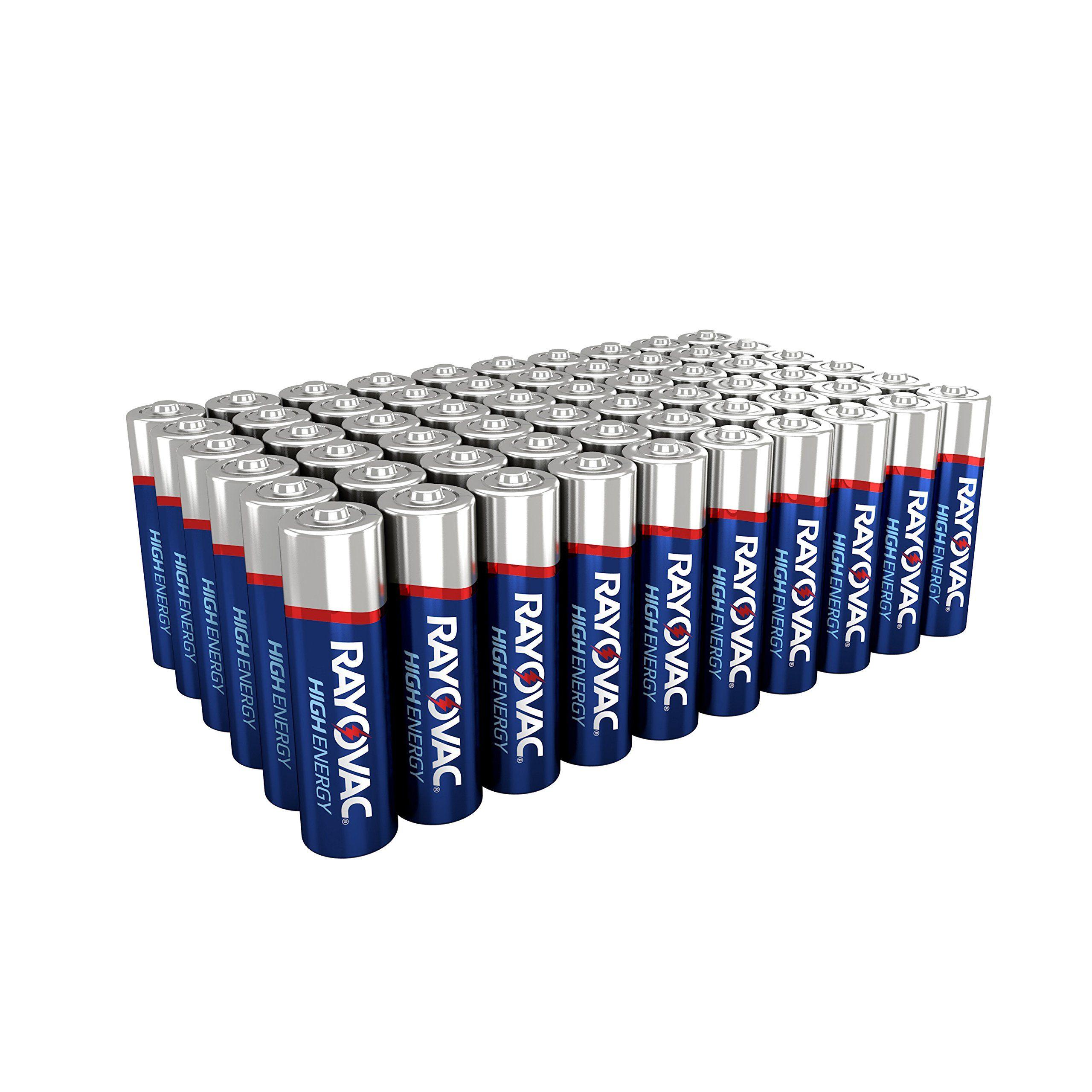 Rayovac Aa Batteries Double A Alkaline Batteries 60 Battery Count Batteries Double Rayovac Aa Battery Pack Alkaline Battery Batteries