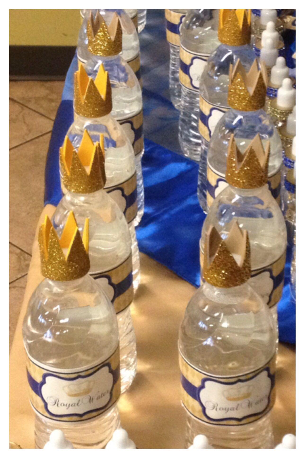Royal Prince Baby Shower Theme Water Bottles!! DIY Self Cutout :) Super