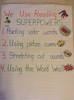 Reading superpowers anchor chart also super readers kindergarten charts pinterest rh