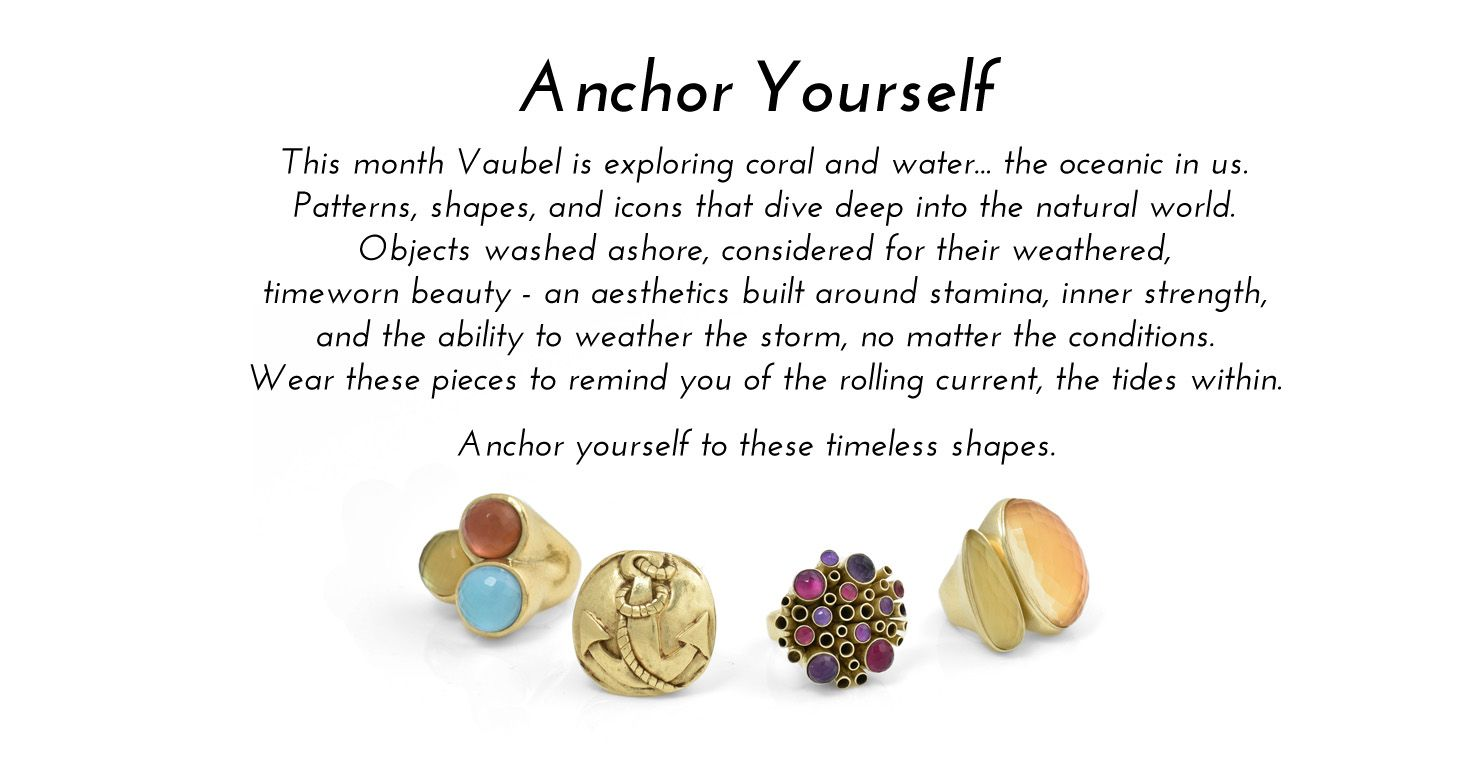 Vaubel Designs releases the Anchor Yourself collection. Shop the collection here:  https://vaubeldesigns.com/collections/anchor/  #vaubeldesigns #vaubel #fallcollection #fall #collection #jewelry #jewelrycollection #ring #rings #gemstone #stonerings #texture #artisan #art #womensfashion #fashion #style #luxury #luxe #brooklyn #newyork