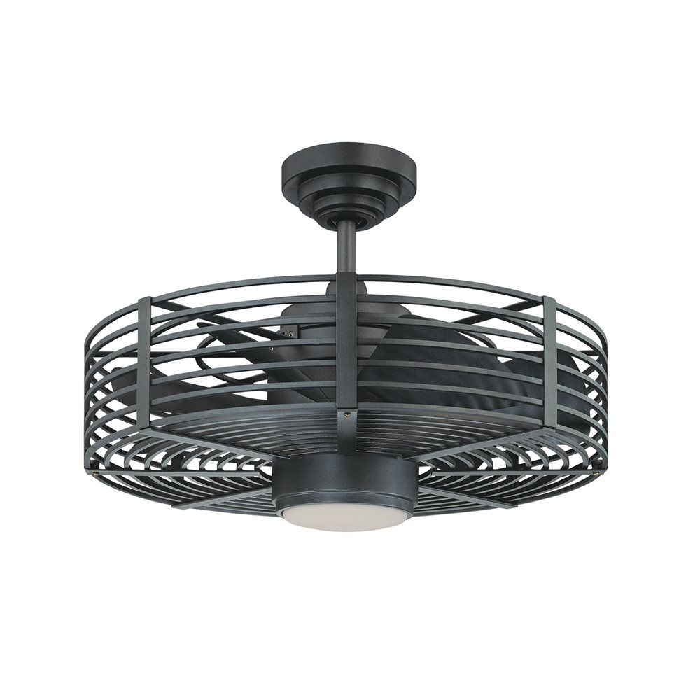 Kendal Lighting Ac17723 Ni 23 In Enclave Ceiling Fan Natural Iron