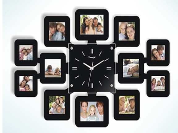Wall Clock with 12 Photo Frames Only 99.00 AED  Creative wall clock with 12 photo frames !! Order Now ☛  http://www.hstdeals.com/wall-clock-with-12-photo-frames?cPath