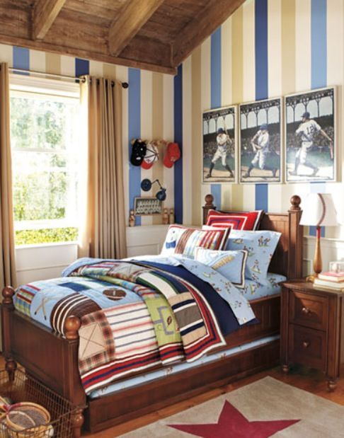 Baseball Boy Sports Bedroom Room Kids Bedroom