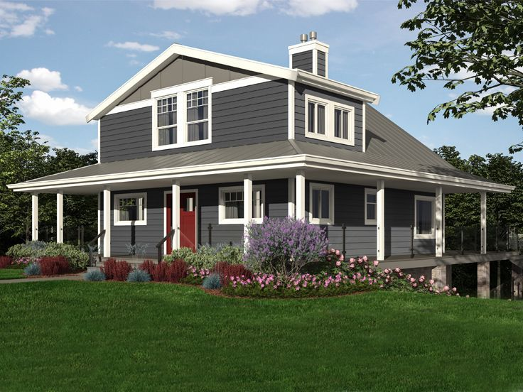 010h 0031 mountain house plan with wrap around porch and
