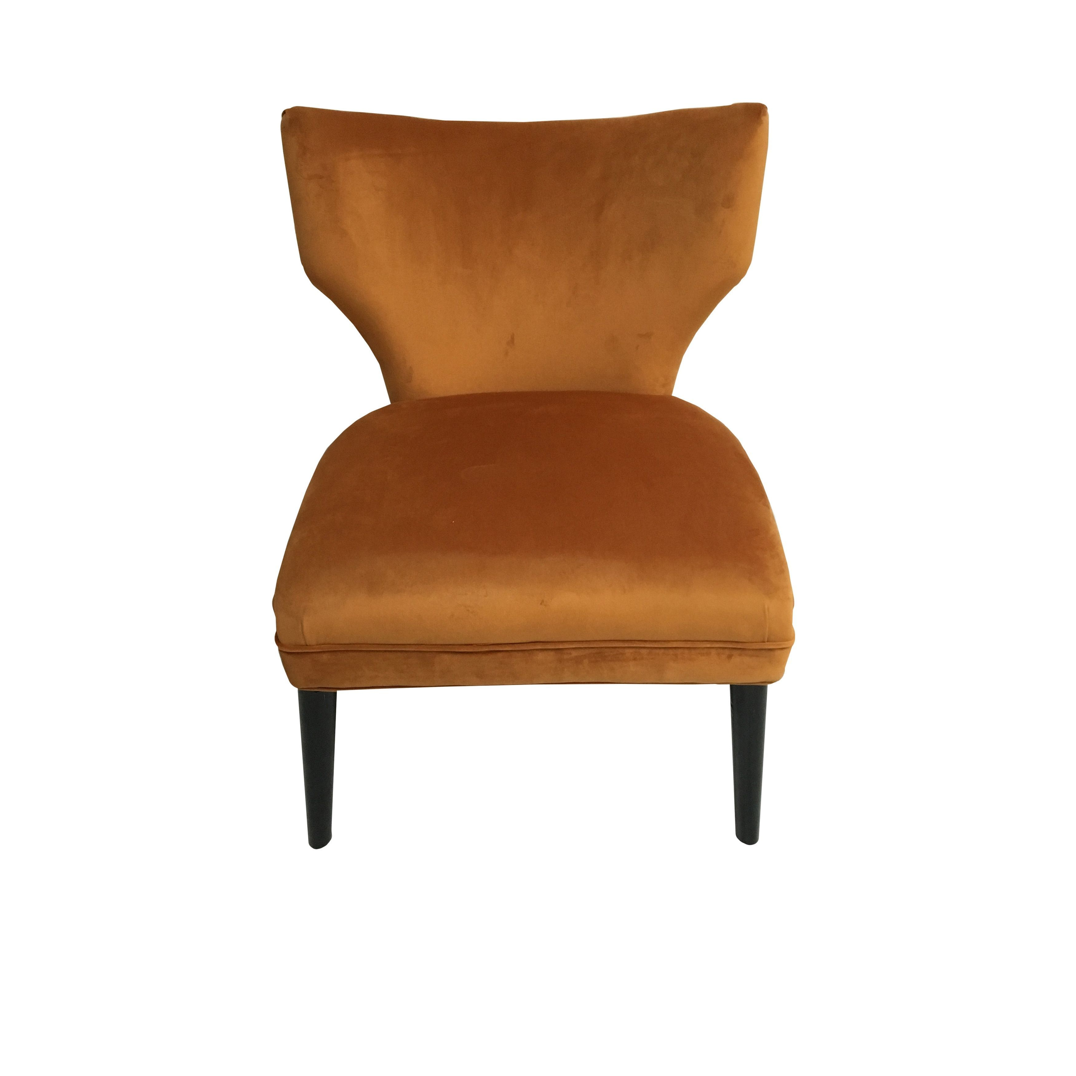 Hd Couture Briar Chair Burnt Orange Mistral Velvet Camry Chair Burnt Orange Mistral Velvet Products Chair Furniture Burnt Orange