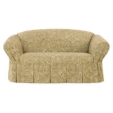 Swell Sure Fit Fanciful Floral By Waverly Loveseat Slipcover Theyellowbook Wood Chair Design Ideas Theyellowbookinfo