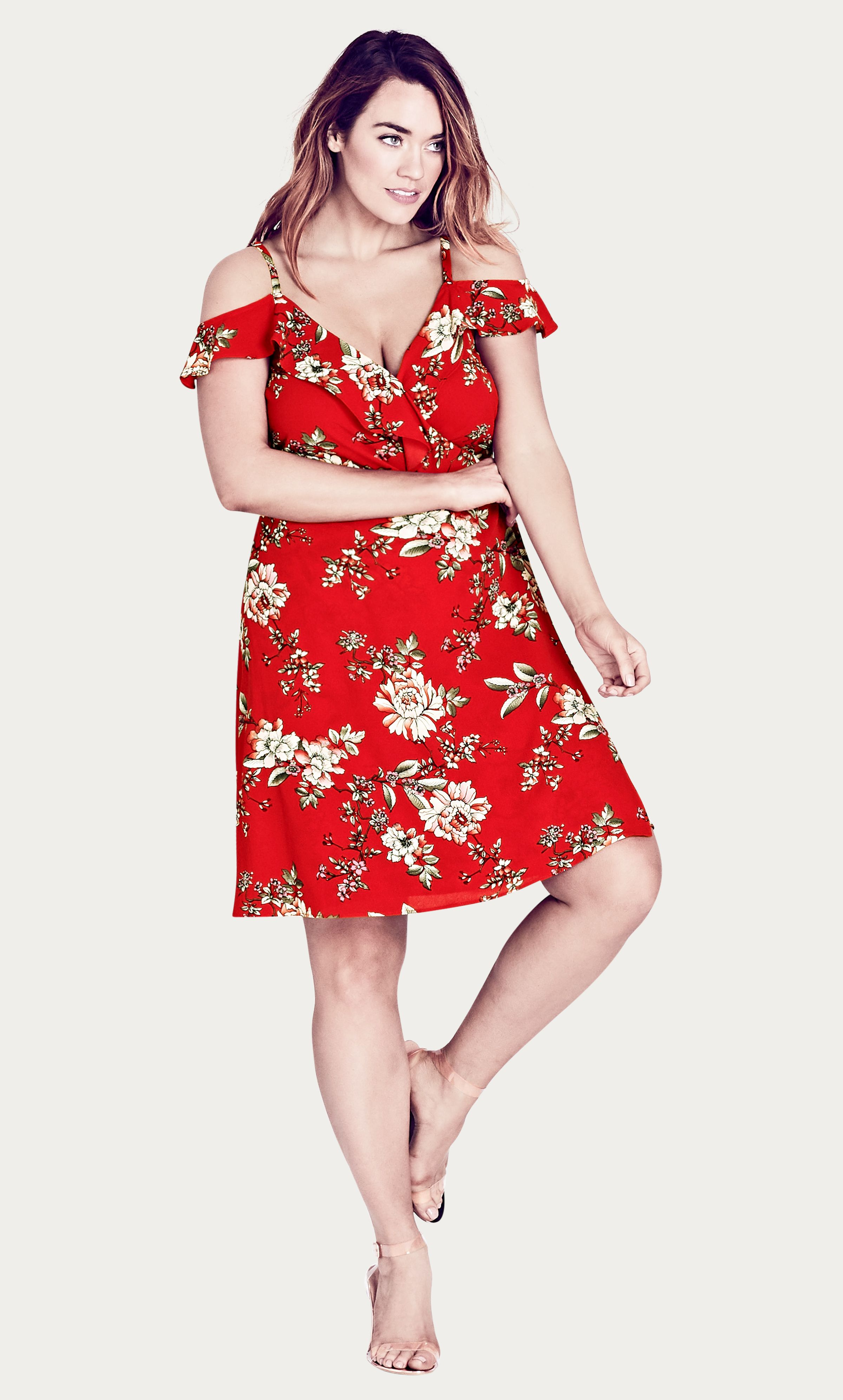 442923a288 Style By Trend  Electric Frills by City Chic - WILD FLORAL DRESS citychic   citychiconline  newarrivals  ootd  plussize  plussizefashion  psootd