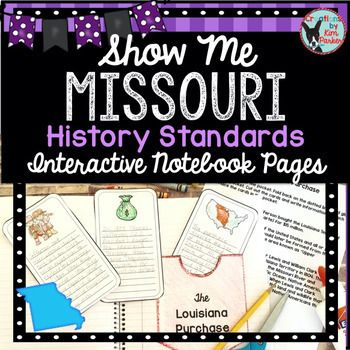 Photo of Missouri History | History Standards Interactive Notebook Pages