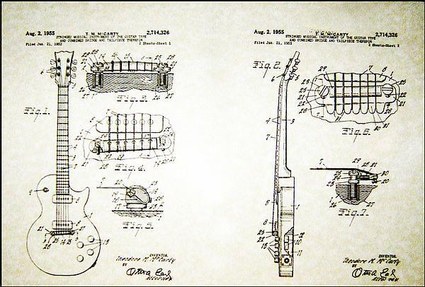 Les Paul Guitar patent 1955