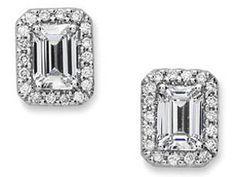 Emerald Cut Diamond Earrings Google Search