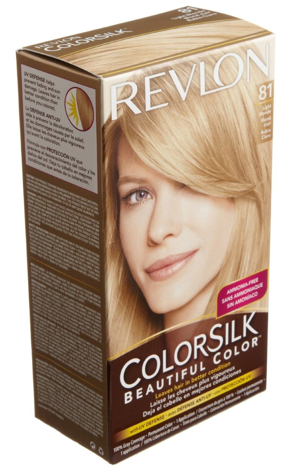 Revlon Colorsilk Light Blonde 81 Beautiful Hair Dye Color [J4 ...