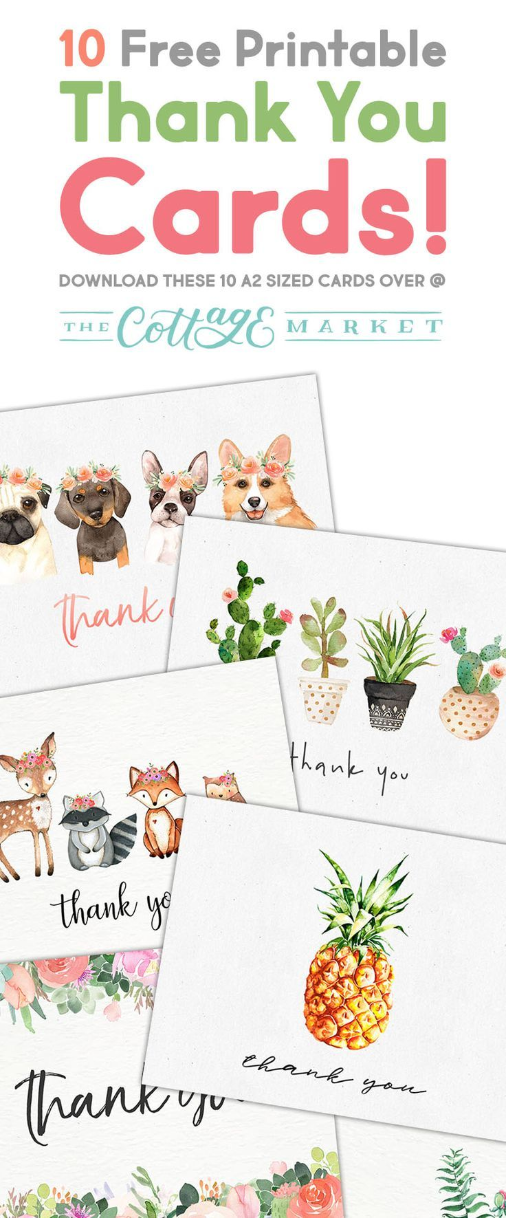 10 Free Printable Thank You Cards You Cant Miss You will have a Thank you Card at your finger tips any time you need it