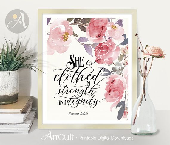 Printable Artwork Digital Download Scripture Bible Verse Etsy Wall Art Instant Download Bible Verse Wall Art Printable Wall Art