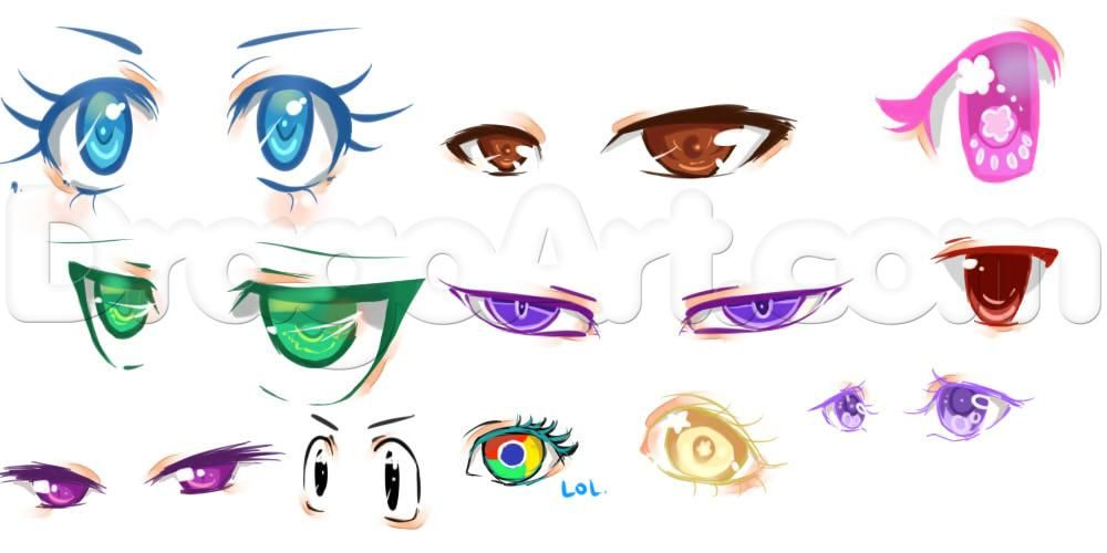 Drawing And Coloring Anime Eyes In Sai Step By Step Anime Eyes