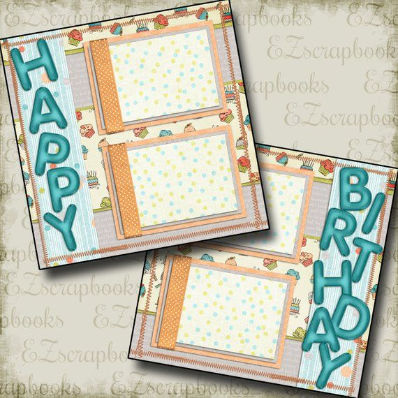 2 Premade Scrapbook Pages
