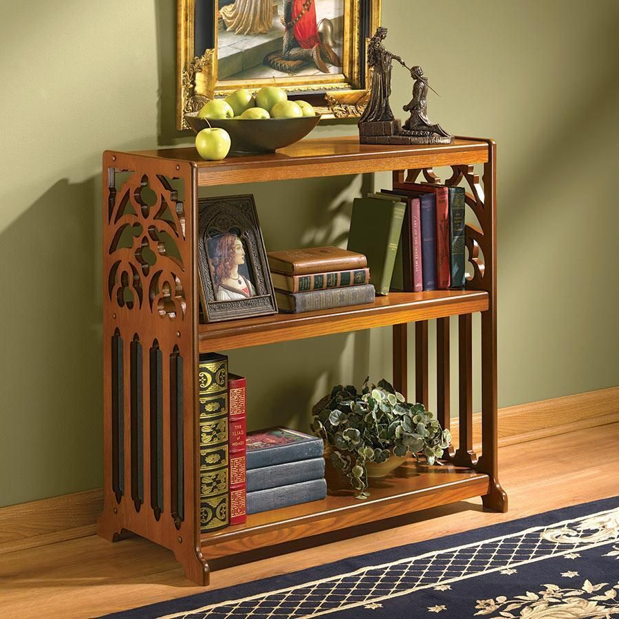 Details About 18th Century Replica Gothic Patterned Fretwork Bookcase Wood Book Shelf Furniture Gothic Bookshelves Wood Bookcase
