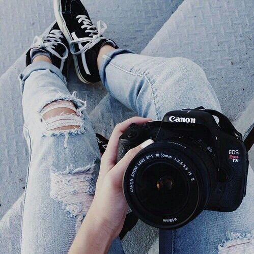 Canon Jeans And Camera Image Camera Selfie Photography Camera Photography